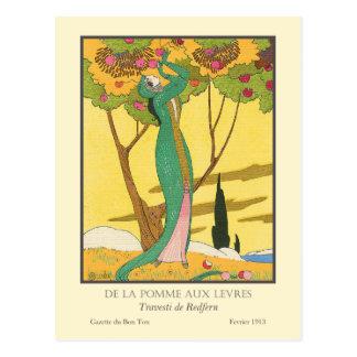De la Pomme Levres aux. de Charles Martin Postal