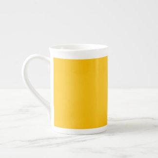 De la porcelana de hueso de la taza amarillo uni