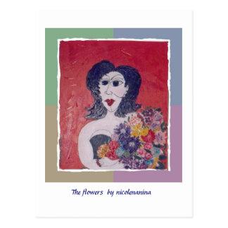 ~ de la postal de la conciencia del ms las flores