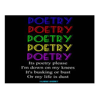 De la postal de la poesía poema por favor