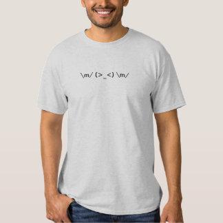 De la roca imagen del texto hacia fuera camisetas