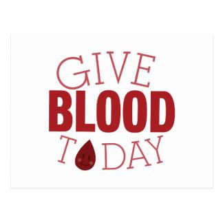 Dé la sangre hoy postal