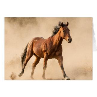 De la tarjeta de felicitación del caballo del
