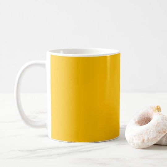 De la taza amarillo uni