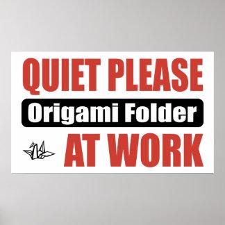 De la tranquilidad carpeta de Origami por favor en Póster