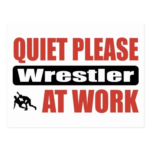 De la tranquilidad luchador por favor en el trabaj postales