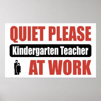 De la tranquilidad maestro de jardín de infancia p poster