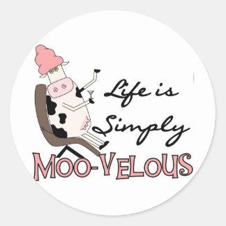 De la vaca camisetas MOO-velous y regalos Pegatina Redonda