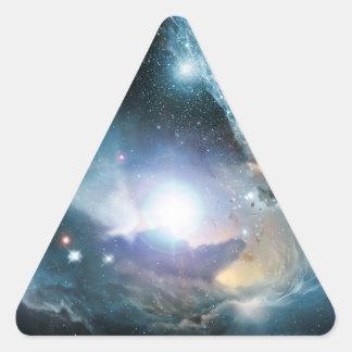 De las cenizas de las primeras estrellas pegatina triangular
