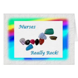 ¡De las enfermeras roca realmente! Tarjeta De Felicitación