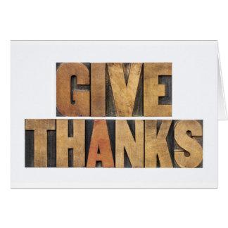 Dé las gracias - concepto de la acción de gracias tarjeta de felicitación