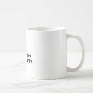 Dé las gracias taza de café