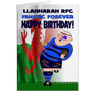 De Llanharan del RFC del fanático tarjeta de cumpl