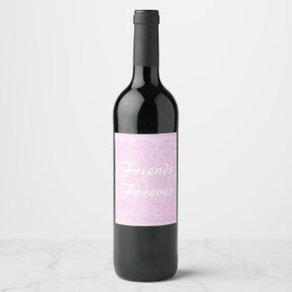 De los amigos etiqueta del regalo de la botella de