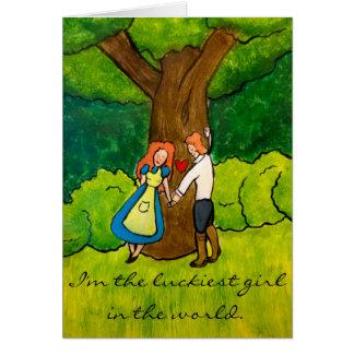 """De los """"aniversario feliz irlandés amantes"""" - de tarjeta de felicitación"""