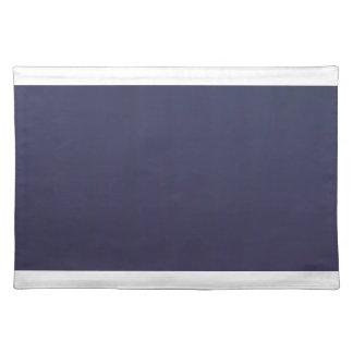 - De los azules marinos Placemat con los bordes Salvamanteles