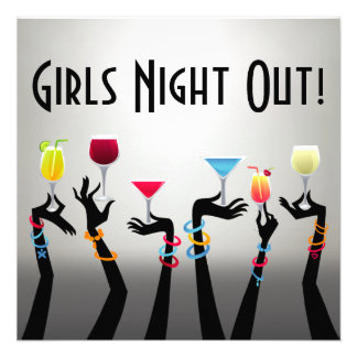 De los chicas de la noche cóctel hacia fuera