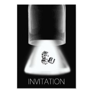 De los dados de la noche de los muchachos de la invitación 8,9 x 12,7 cm