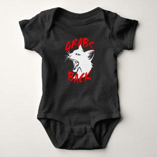 De los ganchos agarradores mono oscuro del bebé body para bebé