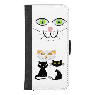 De los gatitos caja de la cartera del iPhone del
