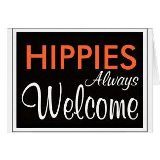De los HIPPIES recepción siempre Tarjeta De Felicitación
