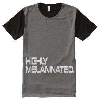 De los hombres camisa del MELANINATED ALTAMENTE Camiseta Con Estampado Integral