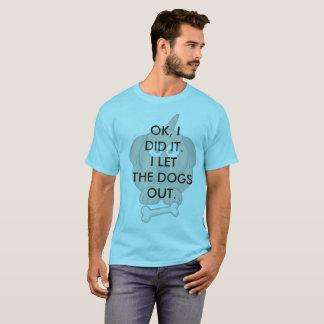 De los hombres de los perros camiseta hacia fuera