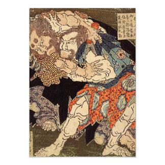 """De los """"invitación luchadores del sumo"""" de invitación 12,7 x 17,8 cm"""