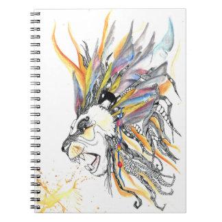 De los leones lucha siempre al extremo cuaderno