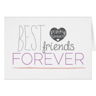 De los mejores amigos tarjeta de felicitación