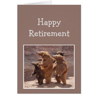 De los osos felices de la diversión del retiro del tarjeta de felicitación