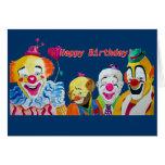 De los payasos tarjeta de cumpleaños a montones