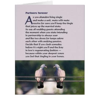De los socios poema para siempre con la foto de la tarjeta de felicitación grande