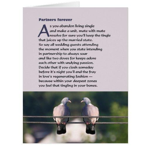 De los socios poema para siempre con la foto de la tarjeta