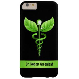 De madera médico verde de la medicina alternativa funda de iPhone 6 plus barely there