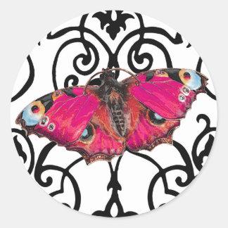 ~ de Mariposa (mariposa) Pegatina Redonda