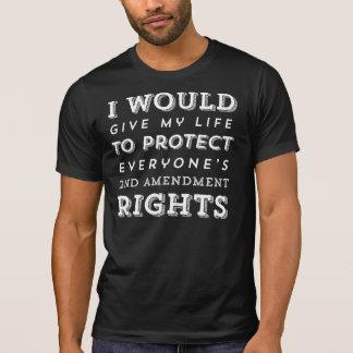Dé mi camisa de Amednment de la vida en segundo