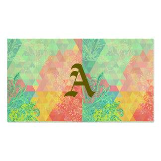 De moda, verde, pasteles, femenino, gráficos, tarjetas de visita