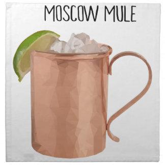 De Moscú de la mula del cobre de la taza diseño Servilleta De Tela