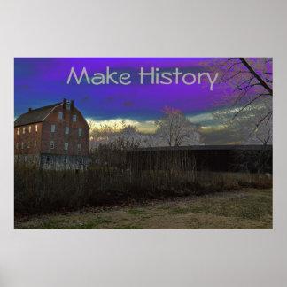 De motivación Poster-Haga la historia Póster