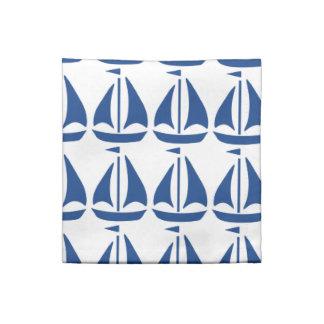 De muy buen gusto azul náutico del velero servilletas