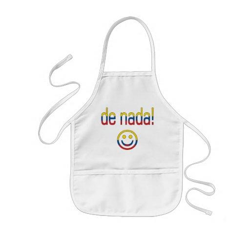¡De Nada! Colores de la bandera de Ecuador Delantal