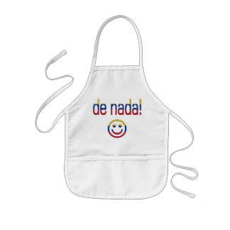 ¡De Nada! Colores de la bandera de Venezuela Delantal