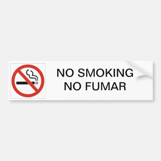 DE NO FUMADORES NINGUNA PEGATINA PARA EL