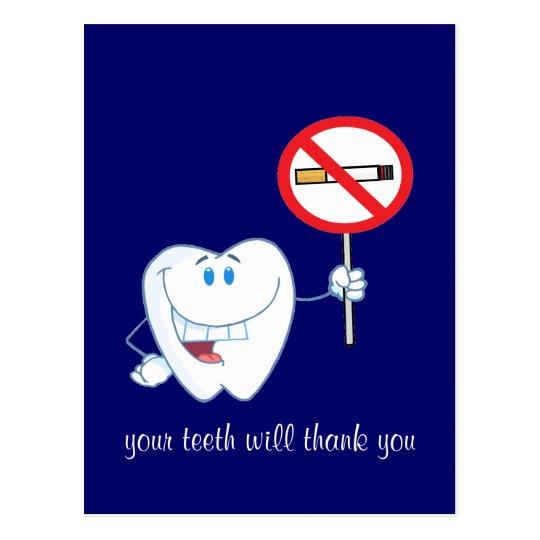 De no fumadores - sus dientes le agradecerán postal