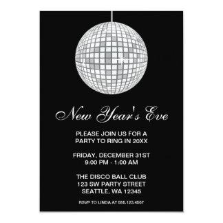 De Noche Vieja del fiesta la bola de discoteca de Invitación 12,7 X 17,8 Cm
