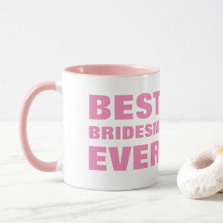 De novia a su mejor dama de honor del bridsemaid taza