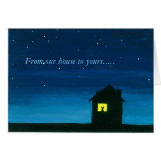 De nuestra casa el suyo tarjeta de pascua feliz