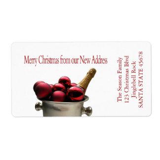 De nuestra nueva dirección Champán Etiquetas De Envío