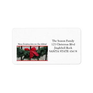 De nuestra nueva guirnalda del navidad de la etiquetas de dirección